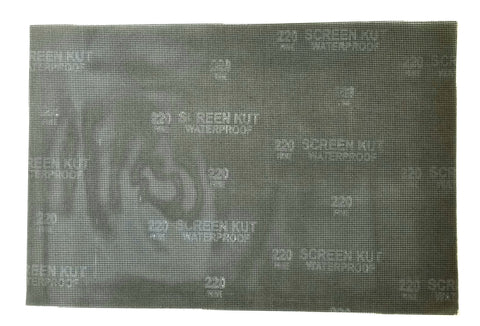 "SCREEN-KUT™ ABRASIVE MESH 12"" X 18"" RECTANGULAR SANDING SHEETS"
