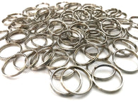 200 pcs 16mm Silver Tone Double Loops Split Open Jewelry #20 Hardware Jewelry Making Tools Supplies Hardware Findings