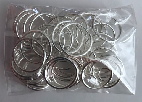 100 pcs 16mm Silver Plated Open Jump Rings Jewelry Ring 35s Split Tool Bead