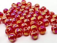 200 PCS 8mm Red Bead Acrylic Round Spacer Beads