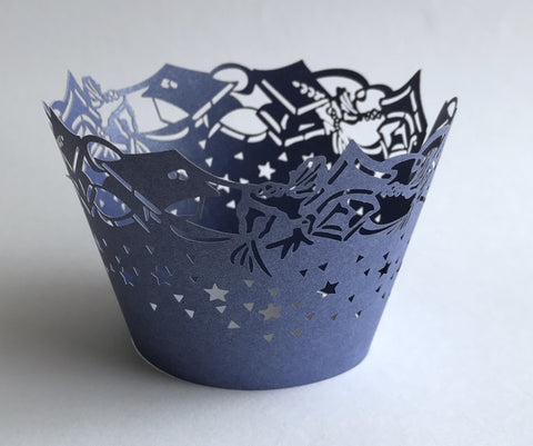Navy Blue Graduation Cupcake Wrappers