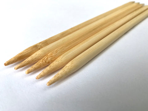 "Select Size 4"" Bamboo double pointed knitting needles sizes us 0 1 2 2.5 3 5 6 7 8 9 10 10.5 10.75  11 13 15 17  2.0 2.25 4.0 2.75 2.5 3.0 4.0 5.5 mm"