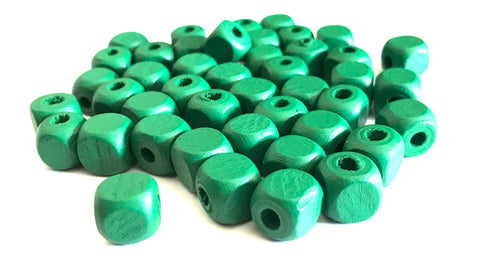 500 pcs Green Square Wood Beads 10mm Bead Jewelry Making Wooden Tool square Craft bead