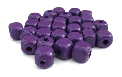 500 pcs Purple Square Wood Beads 10mm Bead Jewelry Making Wooden Tool square Craft bead