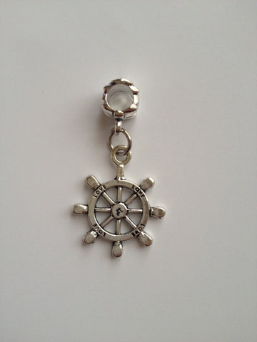 New 1 pc Ship Wheel Charms Charm Bracelet 1P Pendent Bracelet Jewelry Ocean Ship Anchor