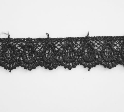 5 Yards Black Lace Scallop Edge Trim #2BT