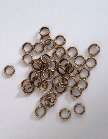 New! 1000 pcs Bronze Tone Double Loop Open Jump Rings Jewelry Ring 5mm #43 split Making Tools Supplies Hardware Findings