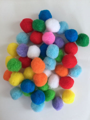200 pcs Large colorful pompom balls pom pom balls craft sewing embellishments assorted