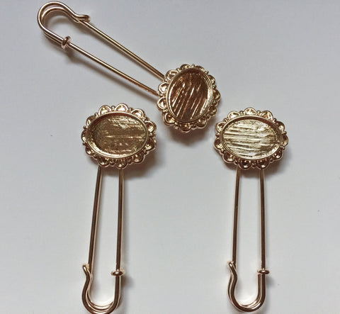 763635083 10 pcs Rose Gold brooches #27B – Sweet Crafty Tools
