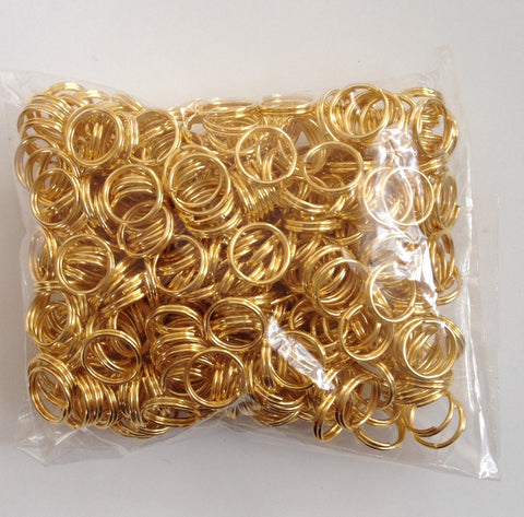 New!  400 pcs Gold Plated Open Double Loop Jump Rings 8mm Jewelry Item #76 Findings Necklace Supplies Tools Craft Making Hardware