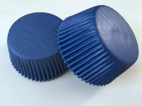 50 pcs Navy Blue Cupcake Liners
