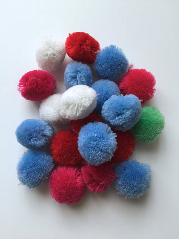 20 pcs Cashmere colorful pompom balls pom pom balls craft sewing embellishments assorted