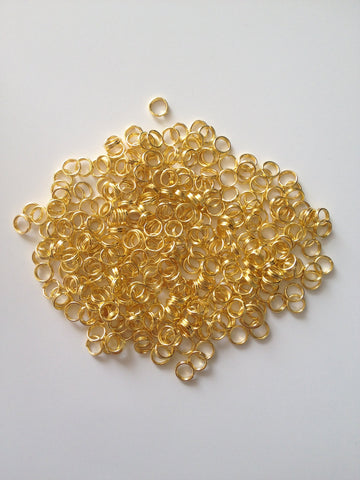 New! 1000 pcs Gold Plated Split Open Double Loop Jump Rings 5mm Jewelry 54G Earring Findings Necklace Supplies Tools Craft Hardware