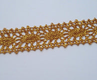 3 Yards Shiny Gold Lace Edge Trim #58G
