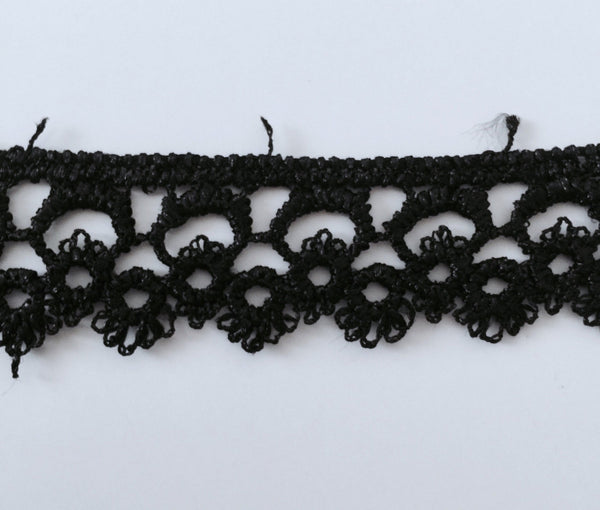 New 5 Yards Black Lace Edging Trim #5BT
