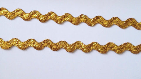 20 Yards Shiny Gold Ribbon Trim #52G