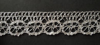 3 Yards Silver Lace Trim #6SL