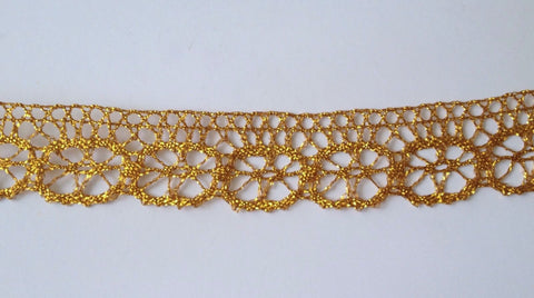 3 Yards Gold Lace Edging Trim #6GL
