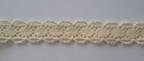 New 5 Yards Vintage Cotton Crochet  Lace Edge Trim Craft 13B Ivory Fabric Needlework Edging Trims Sewing Notions white lace