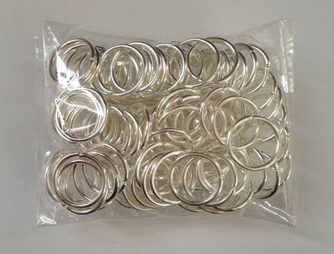 New! 100 pcs Silver Plated Open Jump Rings 12mm Jewelry #72S Jewelry Making Tools Supplies Hardware Findings