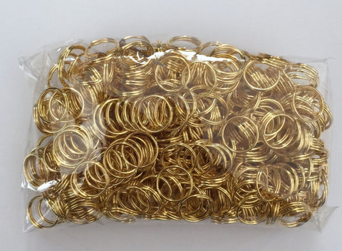 500 pcs Gold Plated Split Open Jump Rings 10mm Jewelry 23G Findings Making Supplies Hardware Making Tools Jewelry