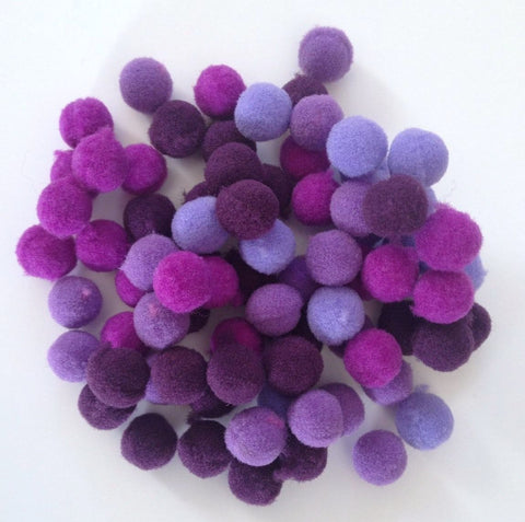 200 pcs purple colorful pompom balls pom pom balls craft sewing embellishments assorted