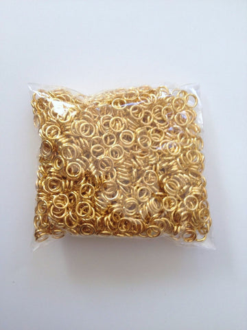 New! 1000 pcs Gold Plated Open Jump Rings 5mm Jewelry 59G Earring Findings Necklace Supplies Tools Craft Hardware