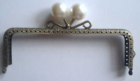 New Pearl Purse Frame Bronze Design Kiss Clasp Frame Arch Faux Hardware Making Tools