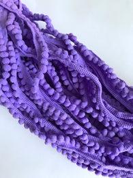 20 yds Purple Pompom Pom poms Trims Edging Tassel Trim Craft Fabric Sewing Edge Trim Craft Fabric Needlework Edging Trims Sewing Notions