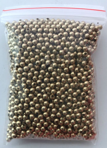 2000 pcs Spacer Gold Beads Round Copper 2mm Bead Jewelry Making Bead 16B Bead Jewelry Making Shimmer Copper Tools Supply