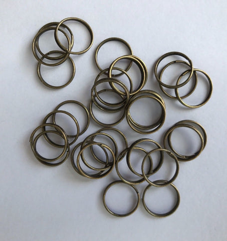 300 pcs Antique Bronze Open Jump Rings 12mm Jewelry 41B Open Jump Rings Jewelry Making Supplies Tools