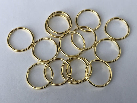 120 pcs Gold Plated Open Jump Rings 14mm Jewelry Ring Tools Earring 91c Making Earring Findings Necklace Supplies Tool Craft Hardware