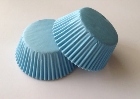 50 pcs light blue cupcake liner