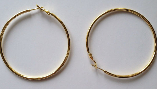 2 pcs Gold Plated Earring Hoop Hoops Hooks Wire Backing Jewelry Findings Hook Tools Backs Findings Craft Hardware #76G
