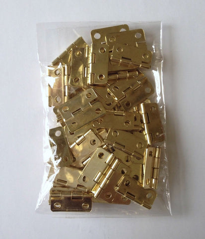 50 PCs Gold Plated Door Hinges For Box 4 Holes Craft Hinge 44H Wood Door Drawer woodworking jewelry