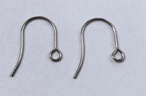 100 pcs Stainless Steel Coil Earring Hooks Wire #c2