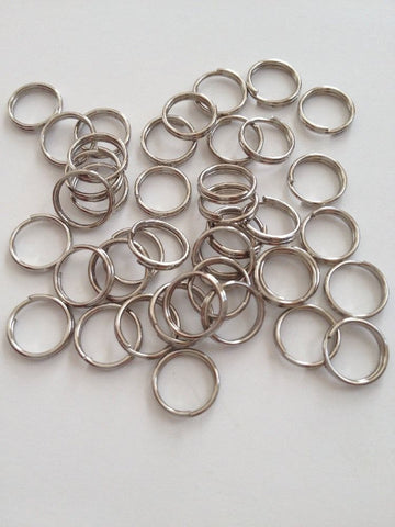 New 500 pcs Silver Tone Split Double Loop Open Jump Rings 8mm Jewelry Item #151 Making Earring Findings Supplies Tools Craft Making Hardware