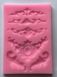 5 Design Damask Lace Edging Mold for Cake-Unbranded