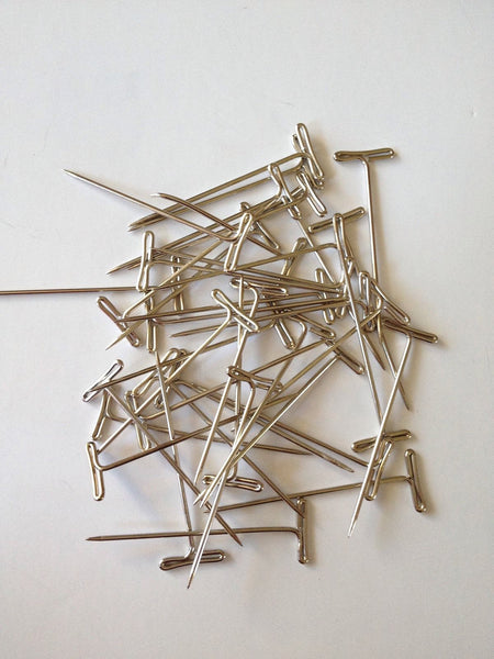 "100 pcs 2"" T pins craft blocking macrame jewelry knitting sewing craft T-pins 75 Dressmaking Pin Scarf Sewing pins Quilting Fashion"