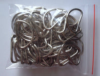 50  D Rings Metal Strapping Silver Tone Jewelry Bag Bags Sewing Clasp 2cm #78M
