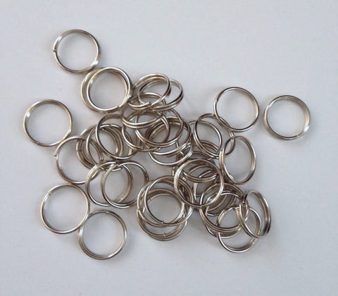 1000 pcs Silver Tone Split Open Double Loop Jump Rings 7mm Jewelry #26 Hardware Jewelry Making Tools Supplies Hardware Findings