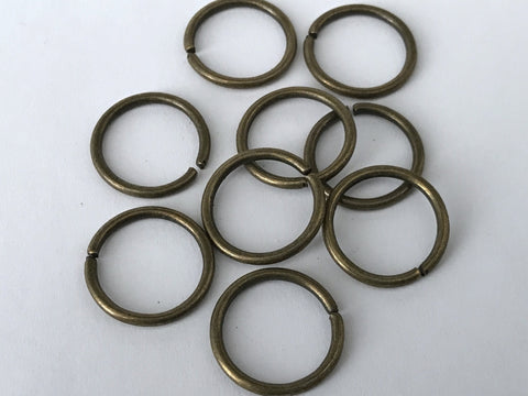 50 pcs Bronze Tone Loop Open Jump Rings Jewelry Split 18mm 93b Making Ring Tool Jump Rings Jewelry Making Supplies Tools