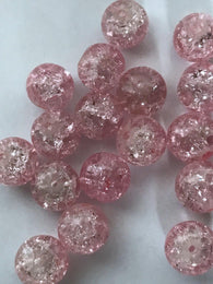 200 PCS 6mm Pink Round Glass Beads 81p