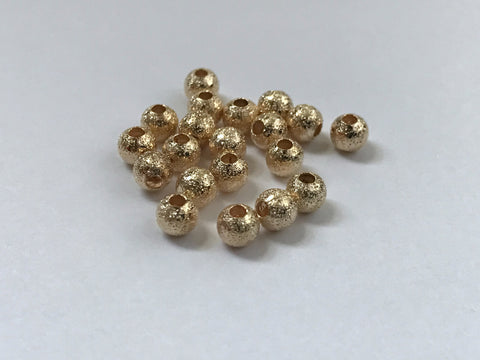 20 pcs 4mm 14k Gold Spacer Copper Beads 59G