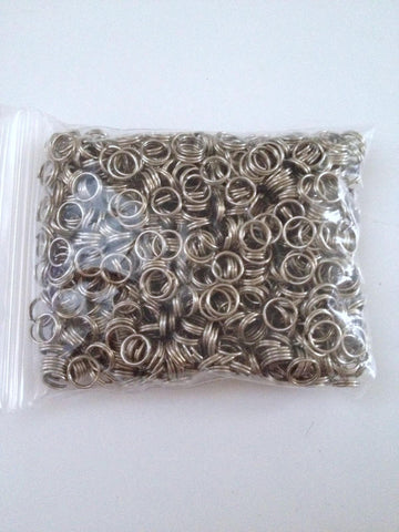 New 800 pcs Silver Tone Double Loop Open Jump Rings Jewelry Double Ring 6mm #4 Making Earring Findings Supplies Tools Craft Making Hardware