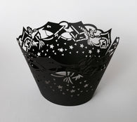 12 pcs Graduation Black Cupcake Wrappers