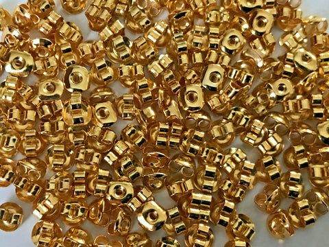 1000 pcs Gold Plated  Earring Backing Butterfly Studs #9x