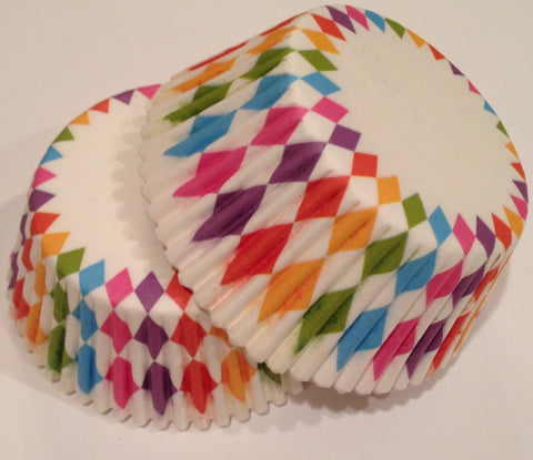 Multi Colored Cupcake Liners 50 count Rainbow Lights
