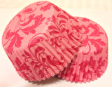 50 count Pink Damask Cupcake Liners