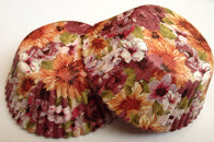 50 pcs Fall Floral Cupcake Liners